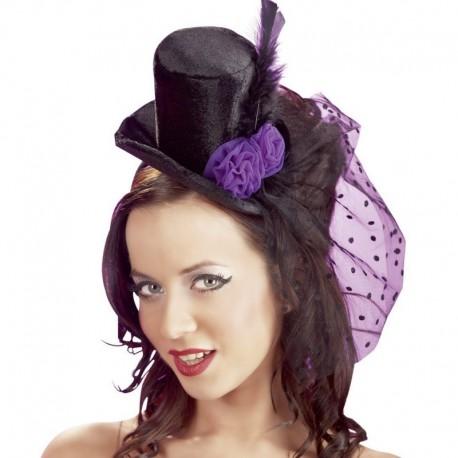 Zwart hoedje met lila