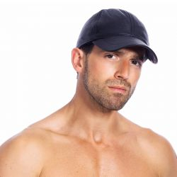 Leatherlook baseball cap