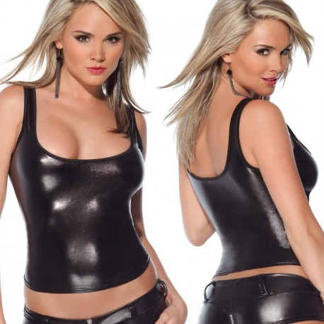 Wetlook tank top