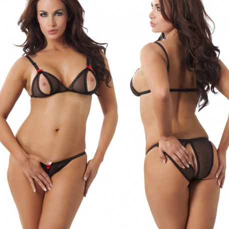 Zwart bikini setje ouvert