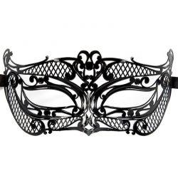 Zwart metalen Venetiaans masker