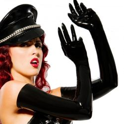 Latex opera gloves bovenarm