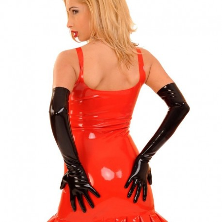 Elleboog lange latex opera gloves