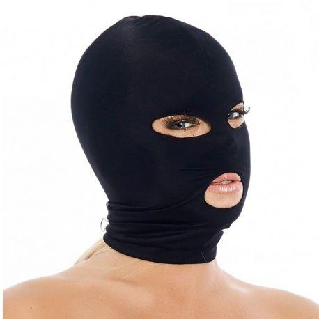 Zwart masker met openingen