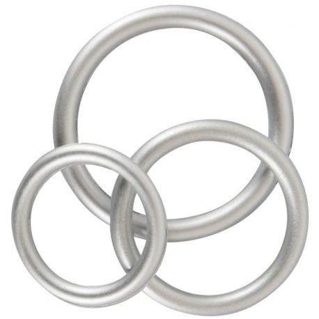 Cock ringen set zilverkleurig