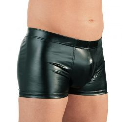 Wetlook boxer met cock ring
