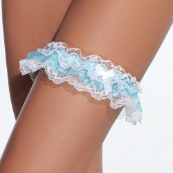 Blauw-witte kousenband