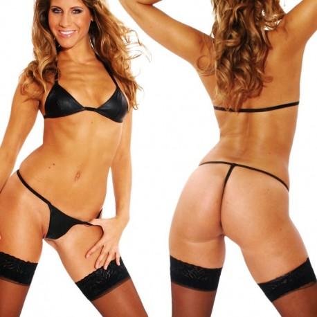 Leren bikini set