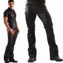 Imitatie lederen jeans 501